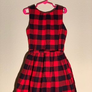 Red and black Carter's girls dress size 7
